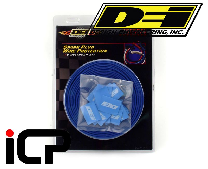 DEI Heat Protective Blue Protect-A-Wire For Ignition HT Leads - 8 Cylinder Kit