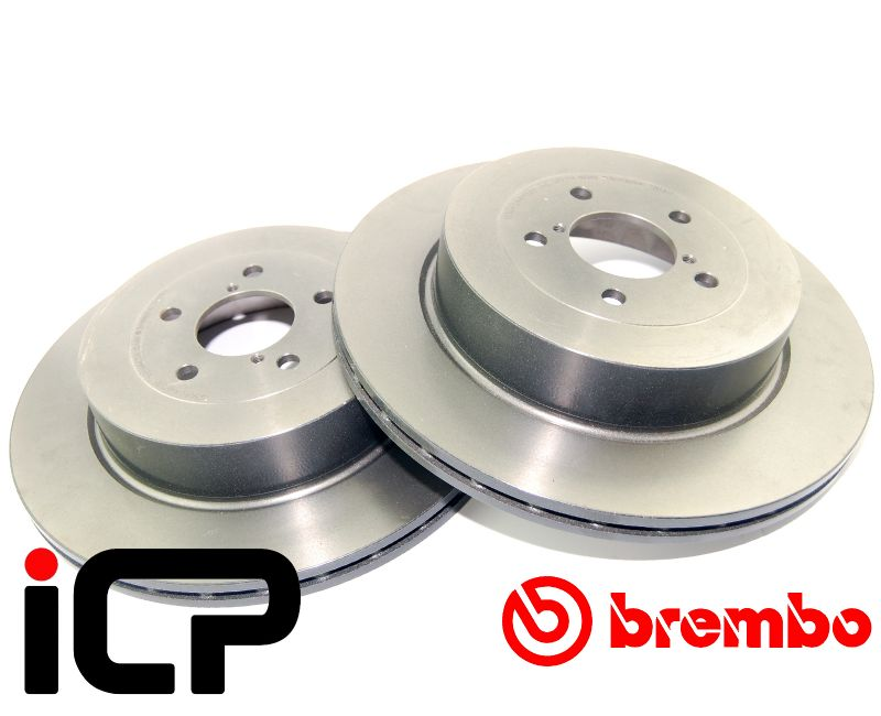 Subaru Forester STi SG9 Brembo High Carbon Rear Brake Discs & Pads