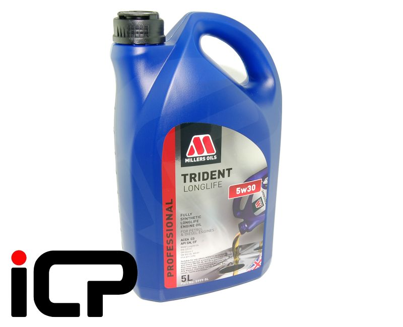Millers Trident Fully Synthetic Longlife 5W30 C3 Engine Oil 5L