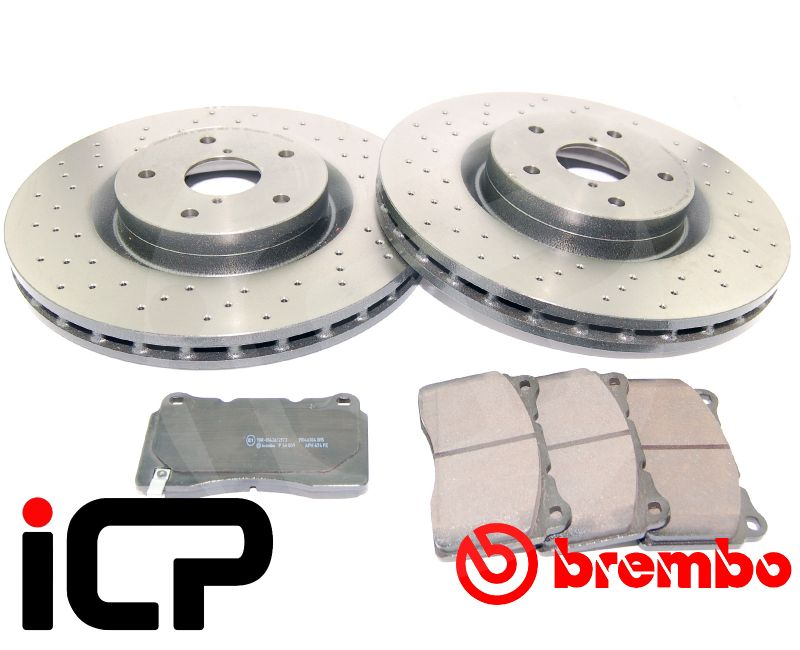 Subaru Forester STi SG9 Brembo Xtra Drilled Discs & Pads