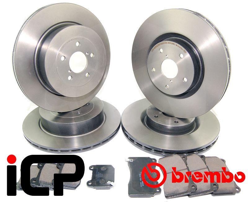 Subaru Forester STi SG9 Brembo High Carbon Front & Rear Brake Discs & Pads