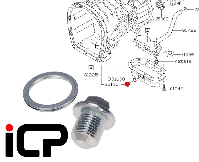 Subaru Impreza 00-19 6 Speed Gearbox Sump Plug & Washer
