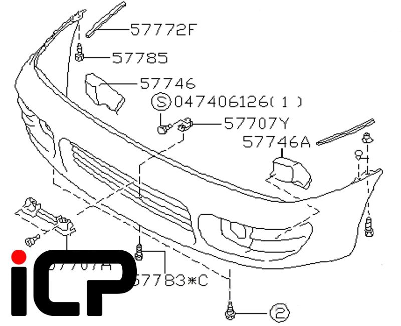Subaru Impreza Turbo 92-98 Preface Lift Front Bumper Brake Cooling Ducts