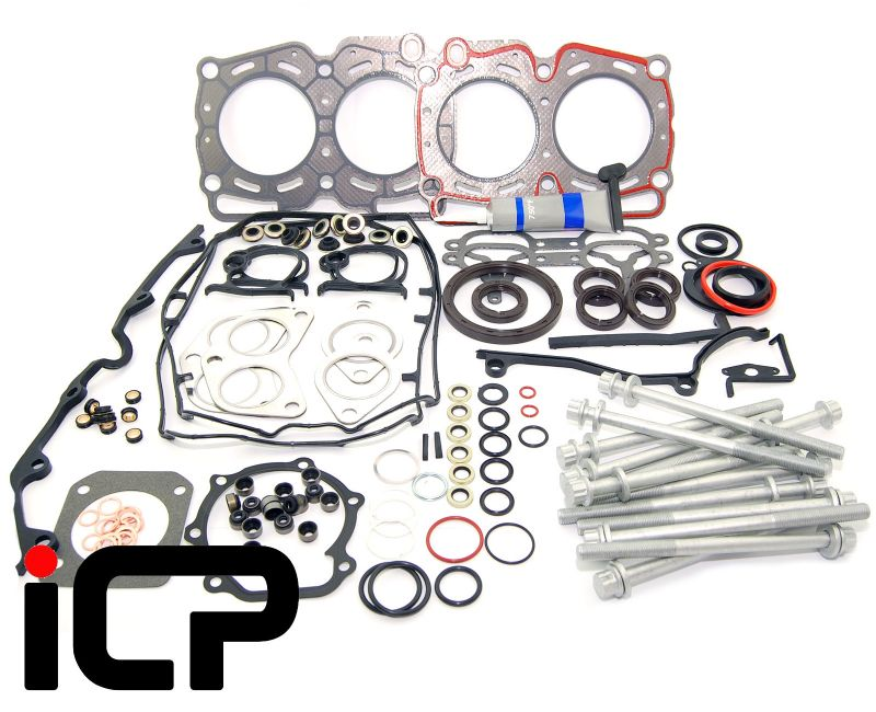 Subaru Impreza Turbo 92-96 ICP Full Gasket Set With Fibre Head Gaskets, Bolts & Grey Sealant